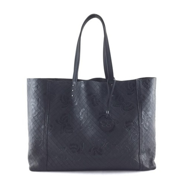 6bd3f2247ae Bottega Veneta Bags   Butterfly Embossed Interwoven Brown Leather ...